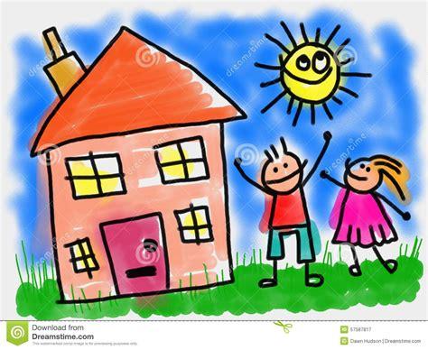 kids  house stock illustration image  house summer