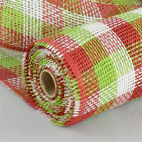 paper mesh craft 21 quot paper mesh roll lime white plaid 10 yards