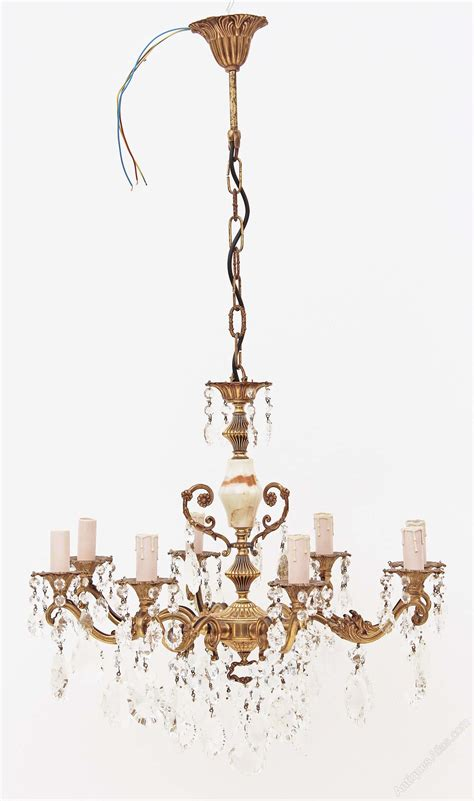 Onyx Chandelier Antiques Atlas 8 L Ormolu Brass Bronze Onyx Chandelier