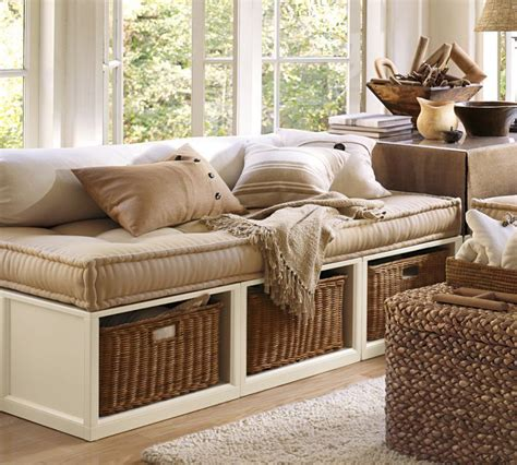 pottery barn stratton daybed stratton daybed with baskets pottery barn home decor