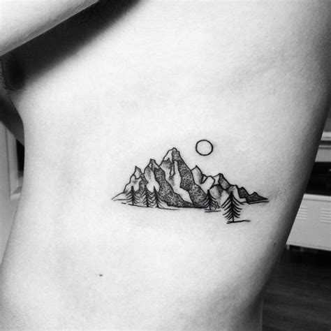 small mountain tattoo mountains tattoologist