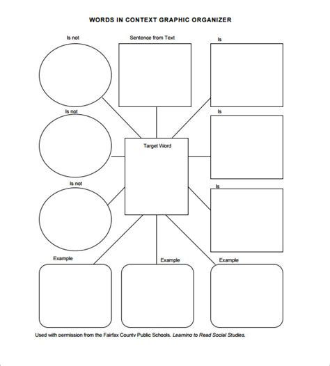 graphic organiser templates 8 blank vocabulary worksheet templates free word pdf