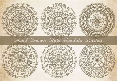 mandala templates for photoshop sketchy style mandala brushes free photoshop brushes at