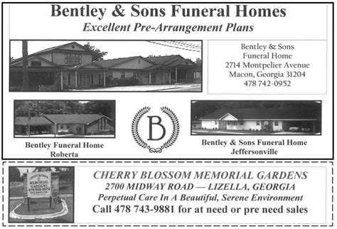 187 bentley sons funeral home