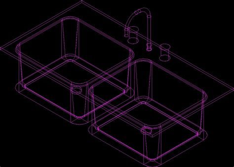 Evier Dwg by Sink 3d Dwg Model For Autocad Designs Cad