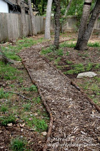 mulch pathway ideas google search yardens lawn ideas