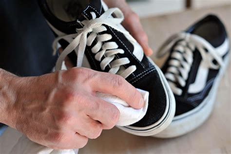 cleaning vans shoes how to clean vans shoes with pictures ehow
