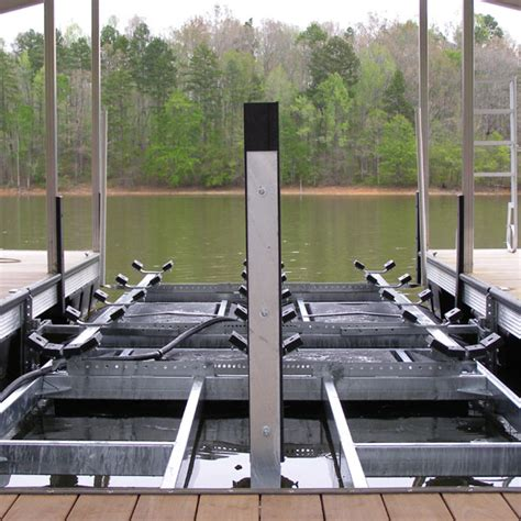 tritoon boat lift floatair polymer cradle floatair boatlifts