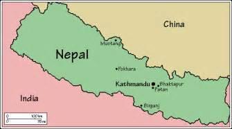 Nepal On The Map by Juliayunwonder Kathmandu Nepal Map
