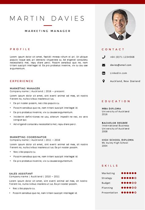 Cv Template Word by Cv Template Auckland Gosumo Cv Template
