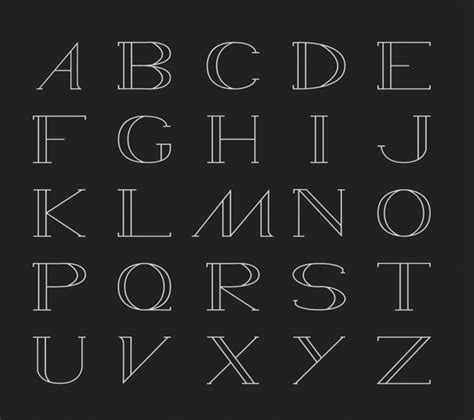 typography outline free outline font wamed by pol