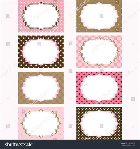 printable tags brown pink brown printable labelstagsphoto frame gift stock