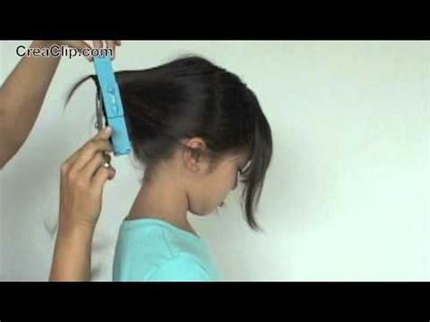 creaclip cuts how to cut a layered a line bob and side bangs hairstyle