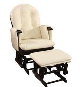 Leather new baby glider rocking breast feeding chair w ottoman ebay