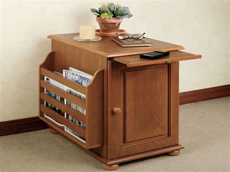 end table with magazine rack wall attached dining table end table with storage and