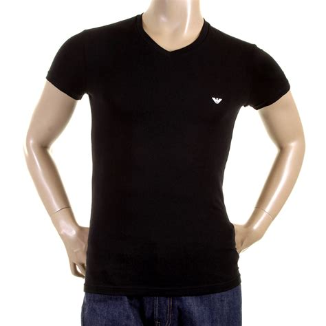 T Shirt emporio armani t shirts black v neck t shirt 110752 cc518 eam2388 at togged clothing