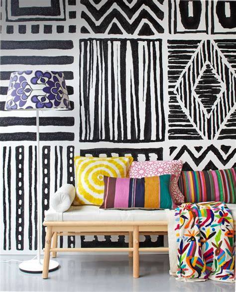 room wall hand design crazy interior paint designs painted graphic feature walls are just fab homejelly