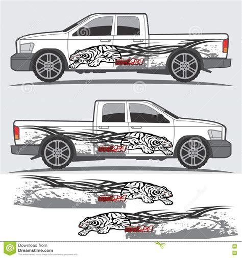 Car Design Sticker Download by Truck And Vehicle Decal Graphic Design Stock Vector
