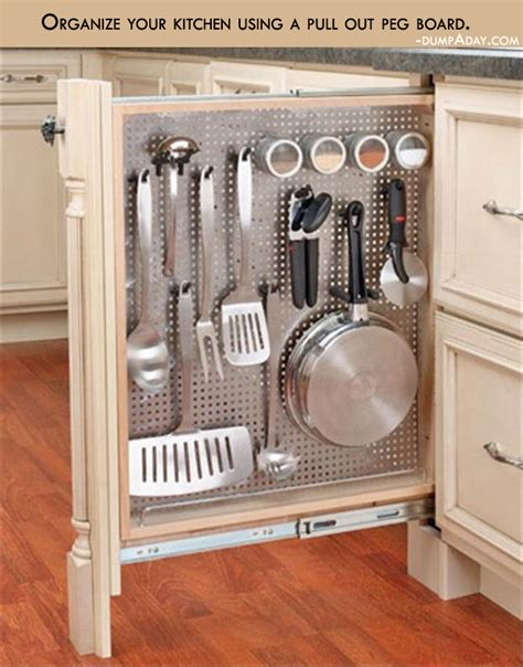 genius kitchen genius ideas organize your kitchen using a pull out peg