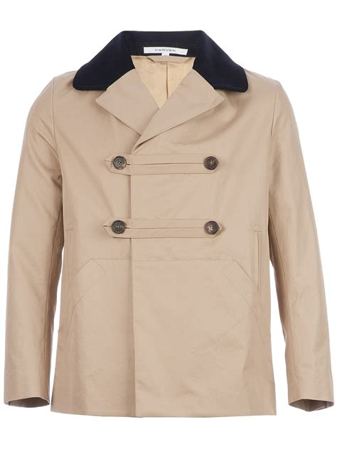 Cropped Trench Coats by Carven Cropped Trench Coat In Beige For Lyst