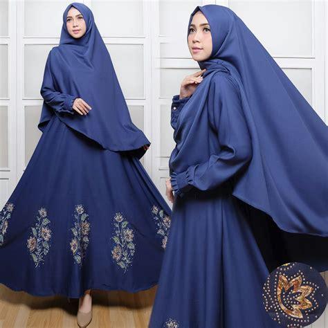 Gamis Baloteli Silvina Navy Syar I Gamis Syar I C017 Baloteli Payet Baju Muslim Cantik