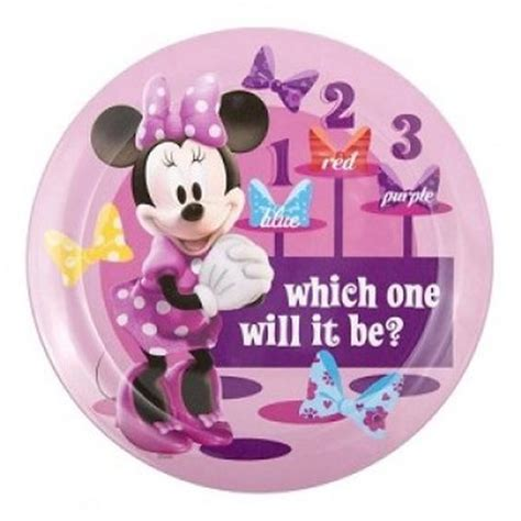 minnie dinner minnie mouse dinnerware 8 quot dinner plate at toystop