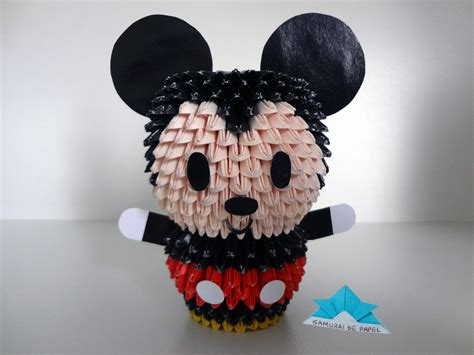 Origami Mickey Mouse - origami 3d mickey 3d origami origami 3d