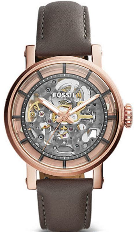 s fossil original boyfriend automatic skeleton