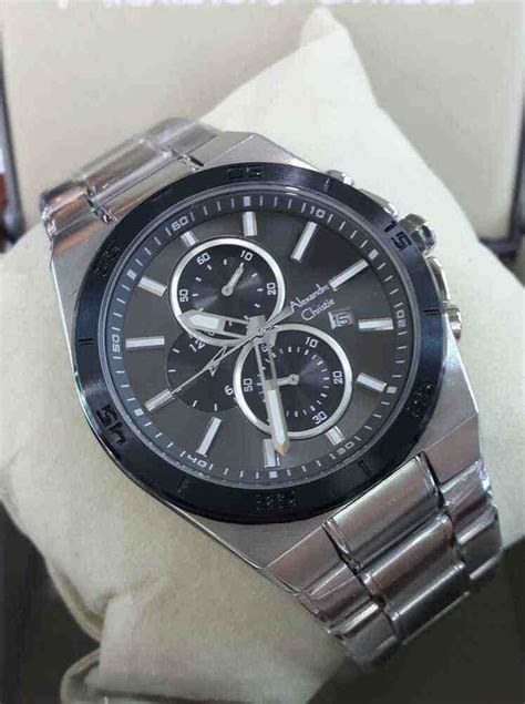 Alexandre Christie Ac6455bf 100 Original Stainless Steel Pria 4 Jual Alexandre Christie Ac 6382mc White Steel Black