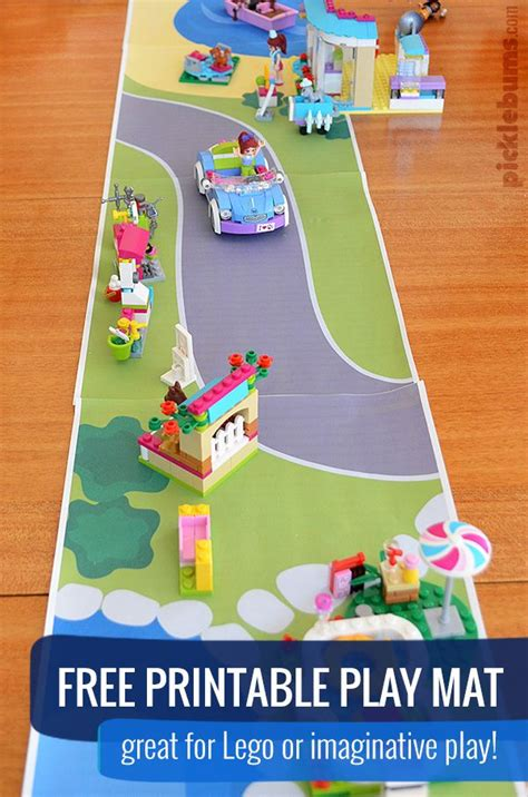 printable road play mat best friends day imaginative play play mats and free