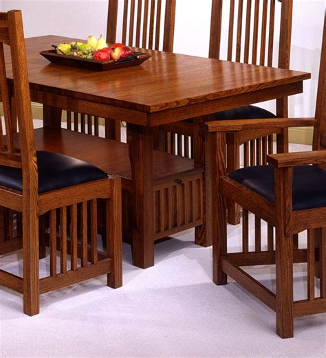 Mission Style Dining Room Set | usa made mission style oak dining room set