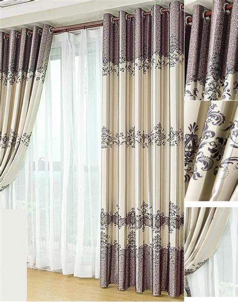 country sler curtains country style purlish grey floral curtain panels