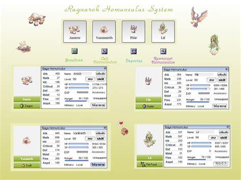 calculator irowiki ragnarok homunculus guide