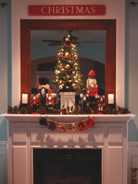 fireplace nutcracker 28 mantel decorating ideas