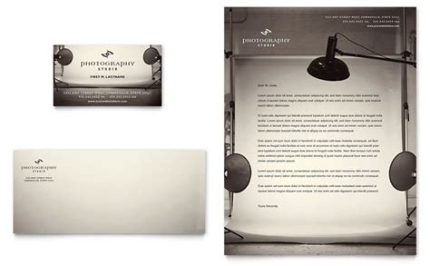 photography letterhead templates photography studio business card letterhead template design
