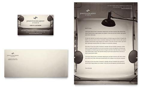 photography studio business card letterhead template design
