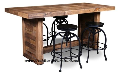 counter height butcher block table bradleys furniture etc utah rustic and mattresses within