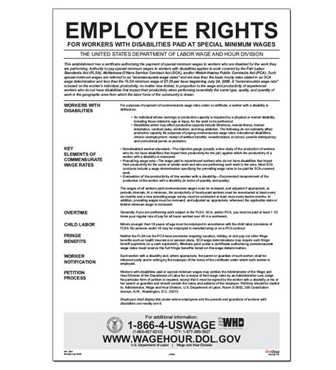Flsa Section 14 C by Employee Rights For Workers With Disabilities Paid At