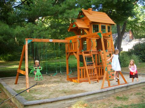 costco wooden swing sets toddler outdoor playsets costco kids creations blue