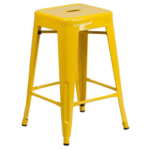 Yellow Stools by Flash Furniture 24 25 In Yellow Bar Stool Ch3132024gbyl