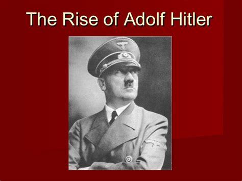 biography of hitler ppt hitler