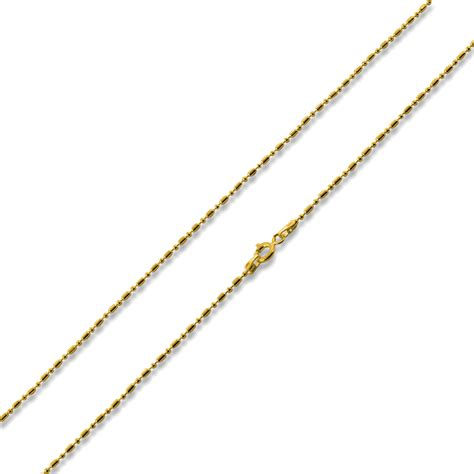 14k sterling silver 18 quot bar bead chain necklace 1 1 0 8mm