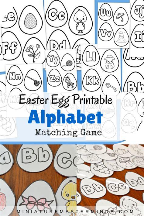 printable alphabet matching easter egg printable alphabet beginning letter sounds