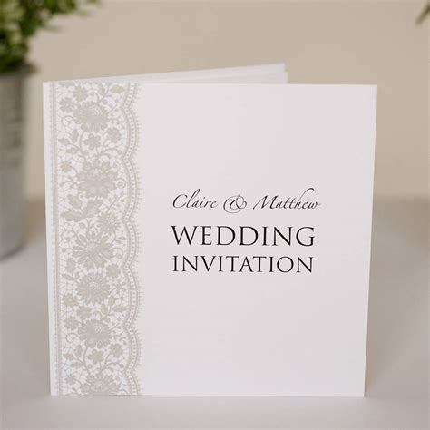 Wedding Invitations by Personalised Lace Wedding Invitations By Twenty Seven