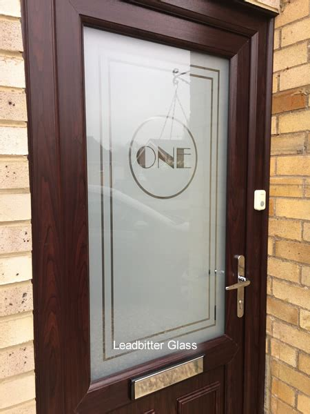 Etched Glass House Number Door Peterborough Glass Door Numbers
