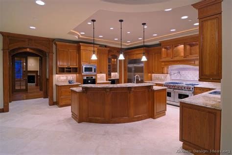 Brown Kitchens Designs Pictures Of Kitchens Traditional Medium Wood Cabinets Golden Brown