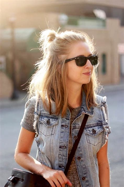 long bob tied up le fashion 20 inspiring half up top knot hairstyles