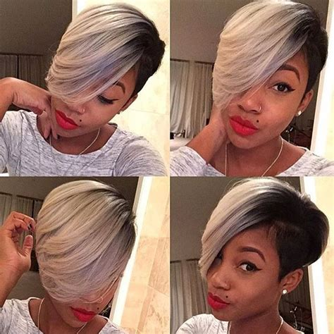 pixie cut glue in extensions instagram post by voiceofhair stylists styles