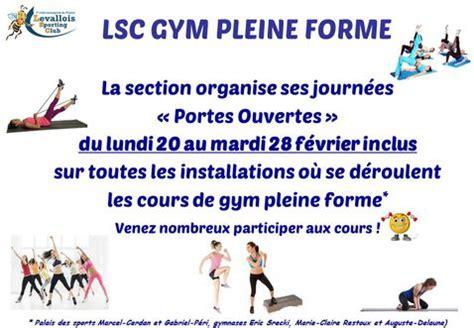 lsc section portes ouvertes gym pleine forme levallois sporting club