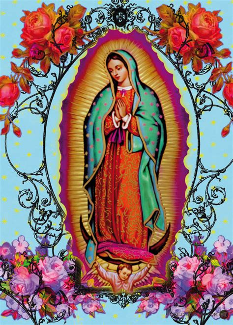 imagen virgen de guadalupe con rosas vierge guadalupe fleurie
